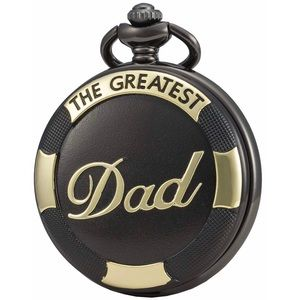 """Other - Black & Gold """"The Greatest Dad"""" Pocket Watch Gift"""
